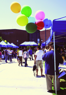 Students at Irvine Valley College have an opportunity to learn about the different clubs on campus on Wednesday Sept. 10 in the student quad. (Lariat Photo FIle)