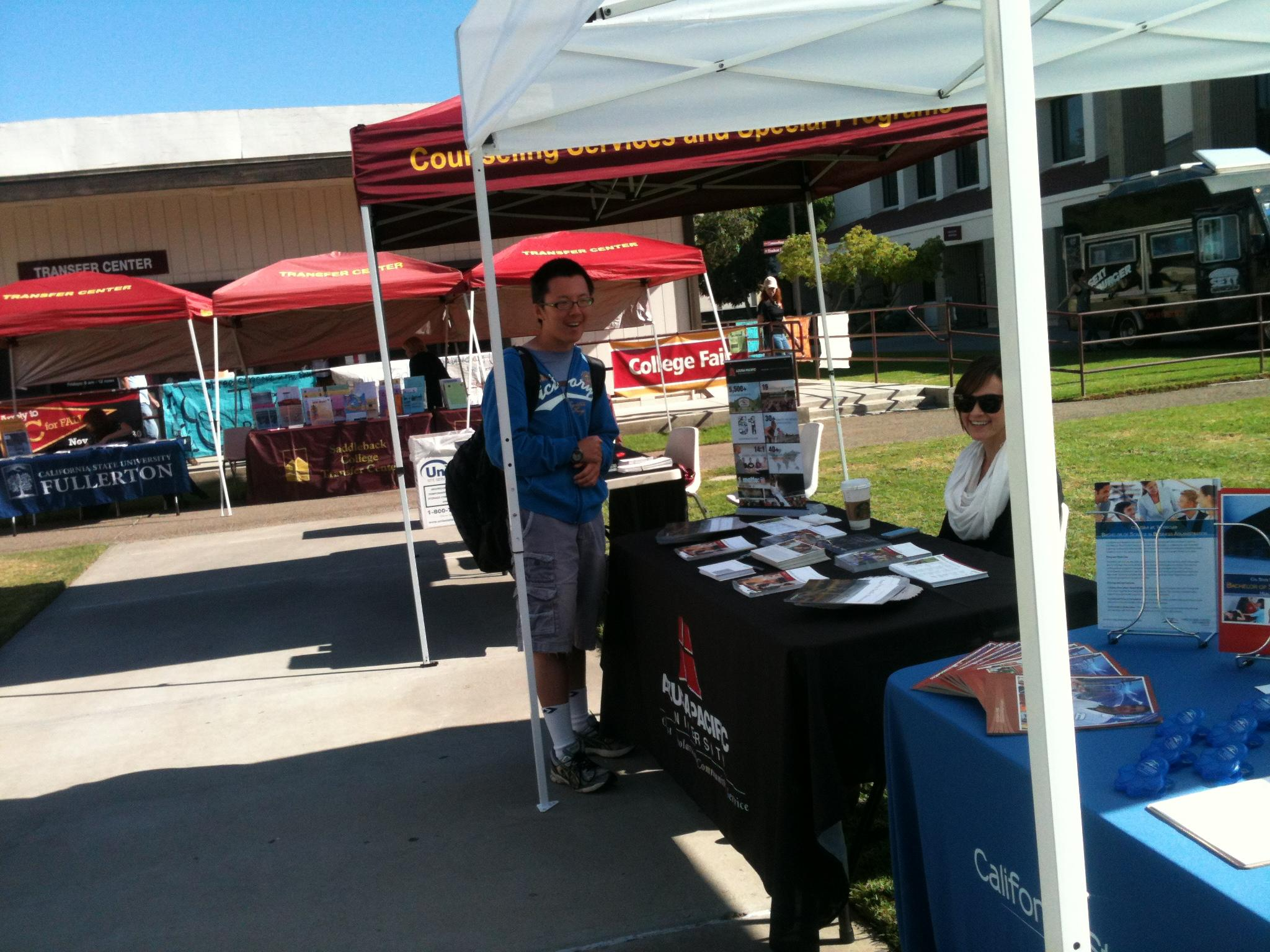 Transfer day at Saddleback College fall 2012