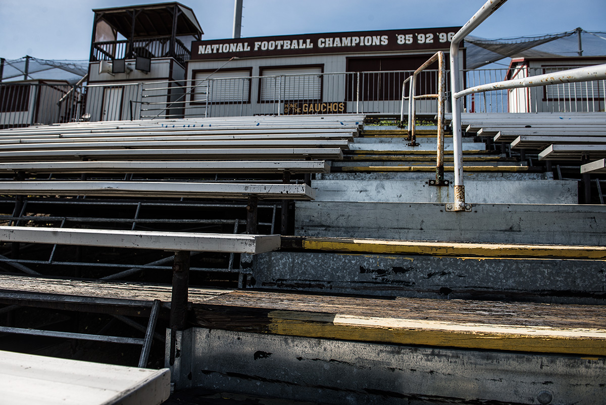 The current state of the football stadium is somewhat tragic, something the new Proposed Stadium plans to rectify.
