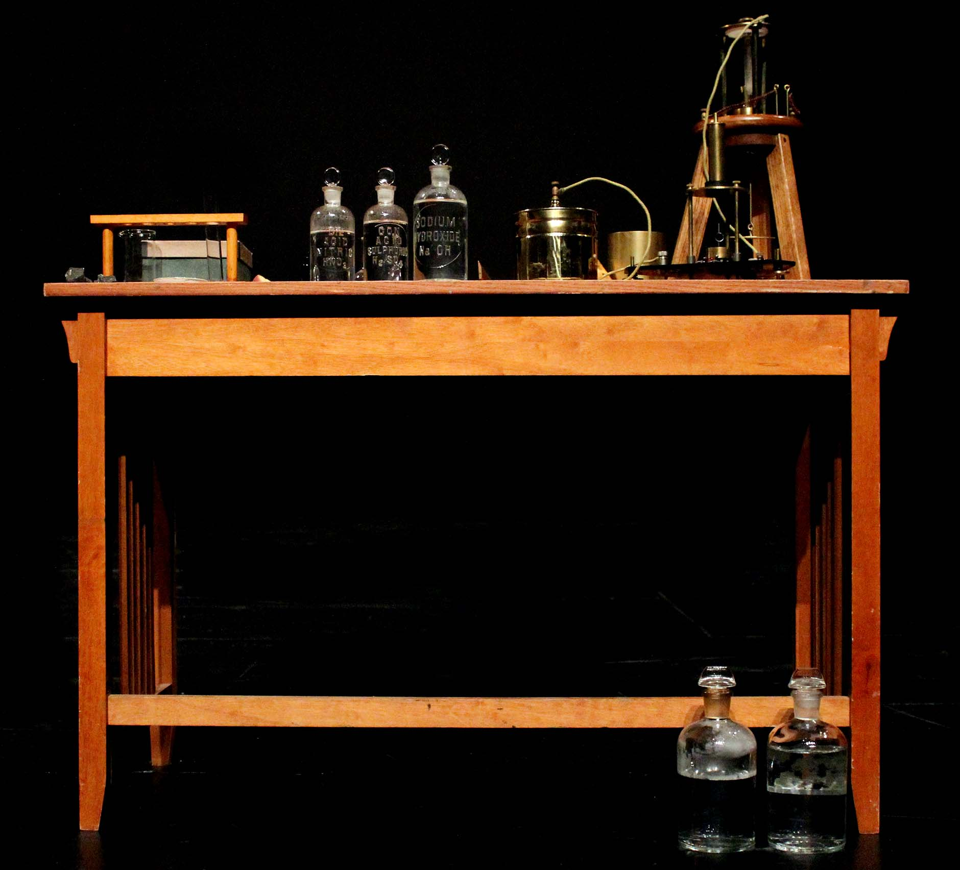 Marie Curie's desk where she did extensive research on radioactivity. Part of Susan M. Frontczak's performance of MANYA: The Living History of Marie Curie last Friday at Saddleback College's McKinley Theatre.
