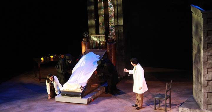 Mary Shelley's Frankenstein at the Irvine Valley College's Performing Arts Center last Thursday night (photograph/Hannah Tavares).
